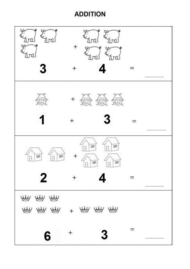 Kindergarten Math Worksheets Pdf Addition   Dining Etiquette - Free Printable Simple Math Worksheets