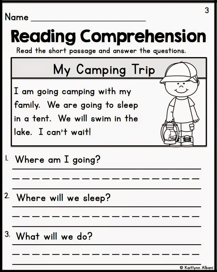 Kindergarten Reading Comprehension Worksheets Multiple Cho - Free Printable Reading Comprehension Worksheets For Kindergarten
