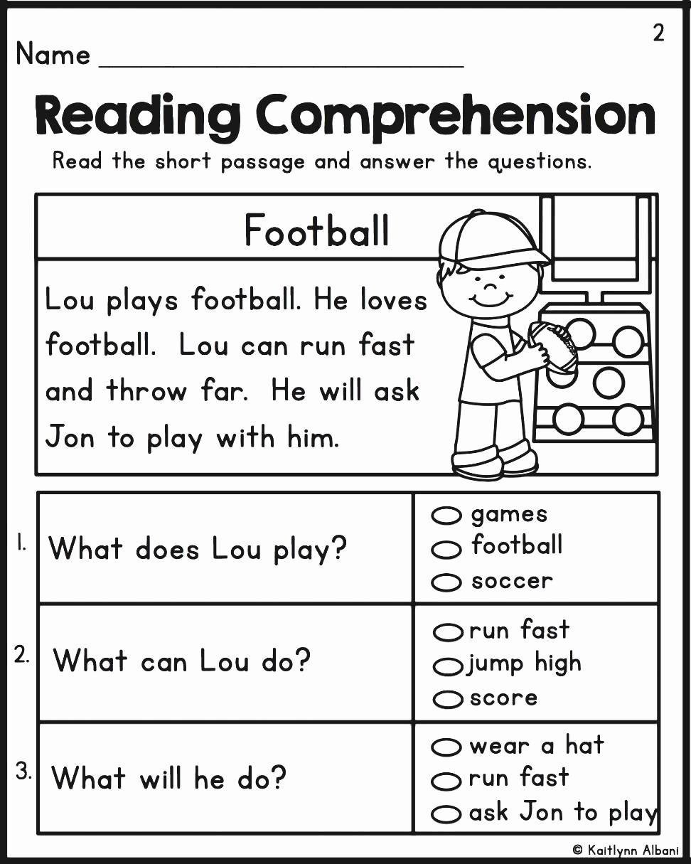 Kindergarten Reading Comprehension Worksheets Pdf Kindergarten - Free Printable Reading Activities For Kindergarten