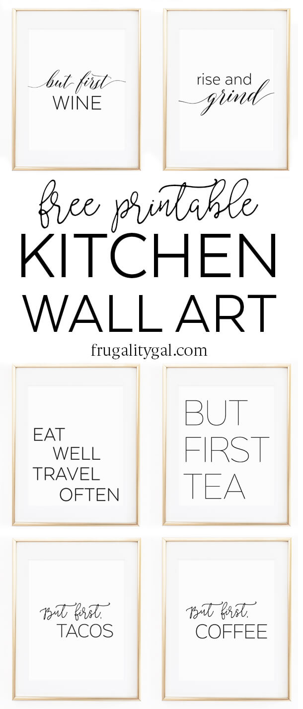 "Kitchen Wall Art - 8X10"" Set Of Six Prints - Free Printable - Free Printable Wall Art"