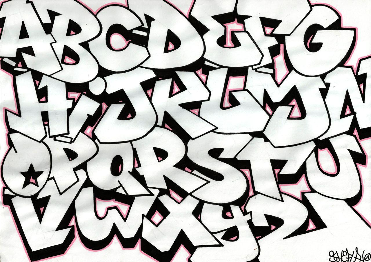Kleurplaat Graffiti Alfabet #2   Scripts In 2019   Pinterest - Free Printable Graffiti Letters Az