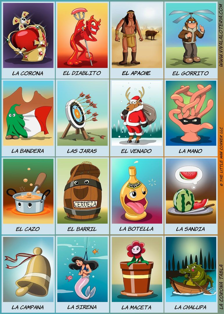 La Corona Tabla | Mexico For Culture Day | Pinterest | Loteria Cards - Loteria Printable Cards Free