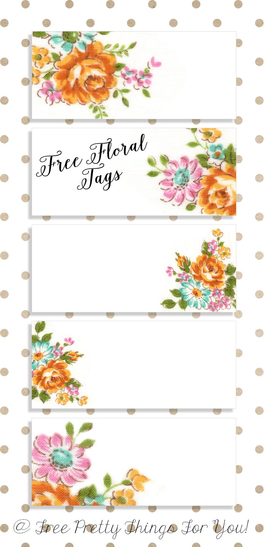 Labels: Pretty Floral Vintagetags | Best Free Digital Goods - Free Printable Name Tags