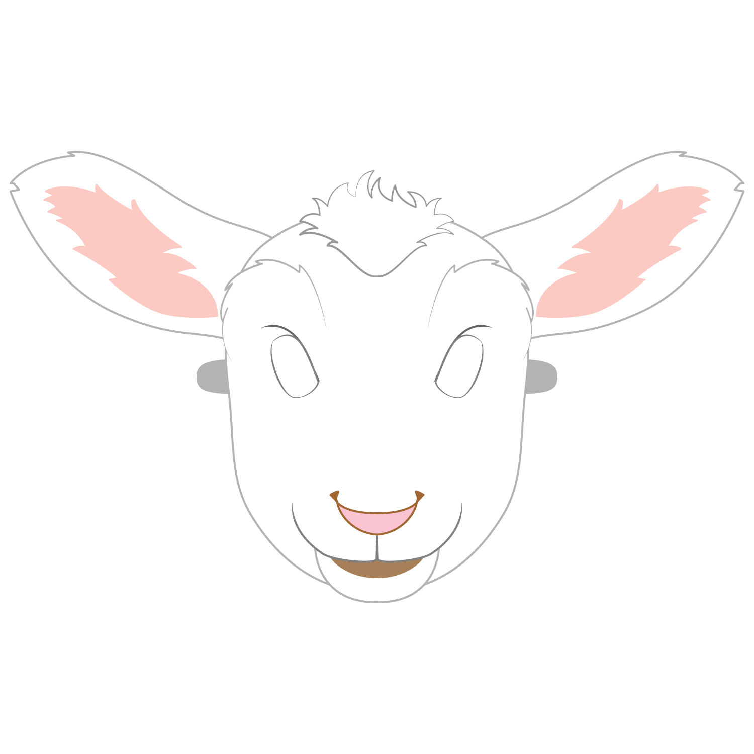 Lamb Mask Template | Free Printable Papercraft Templates - Free Printable Sheep Mask