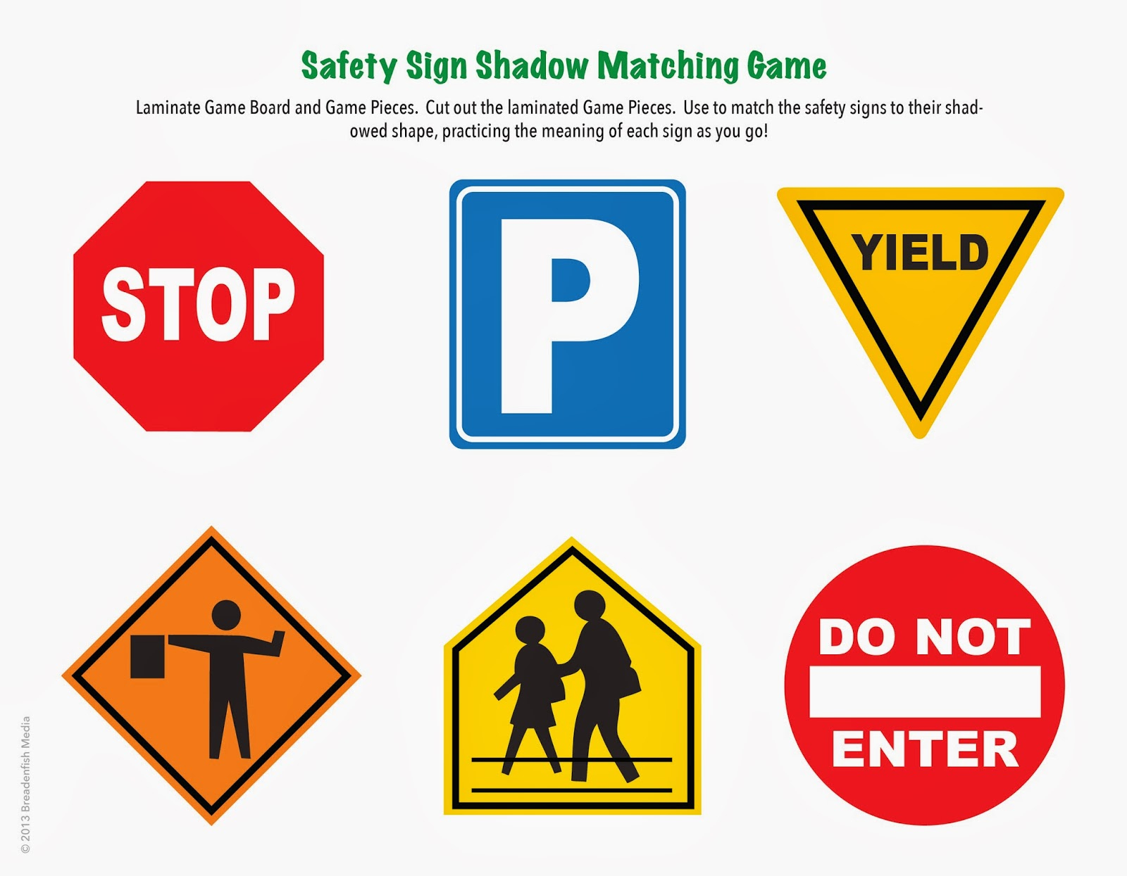 Lampara Designs: Safety Week Unit: Free Printables And Lesson Plan - Free Printable Health And Safety Signs