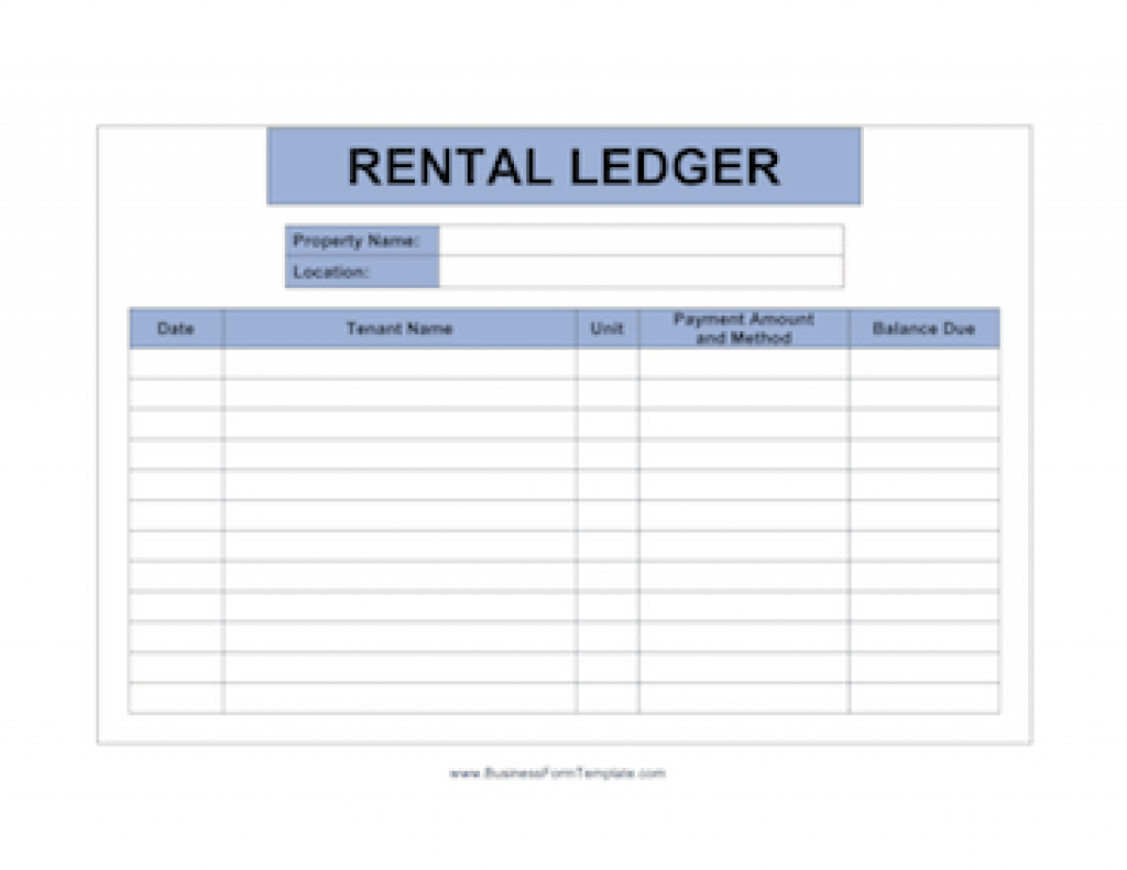 Landlord Documents Templates Regarding Free Printable Rent Ledger - Free Printable Rent Ledger