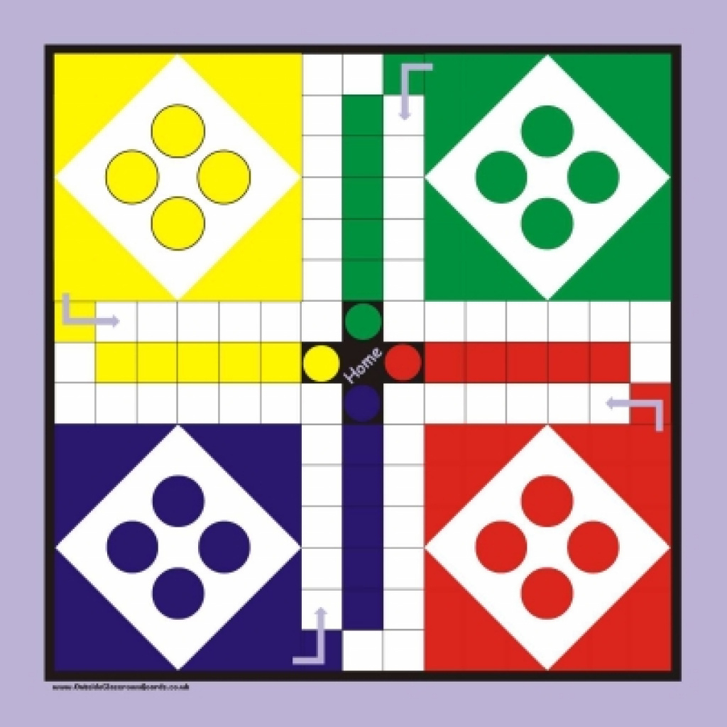 Large Outside Game Board & Pieces - Ludo | Games | Outside Classroom - Free Printable Ludo Board