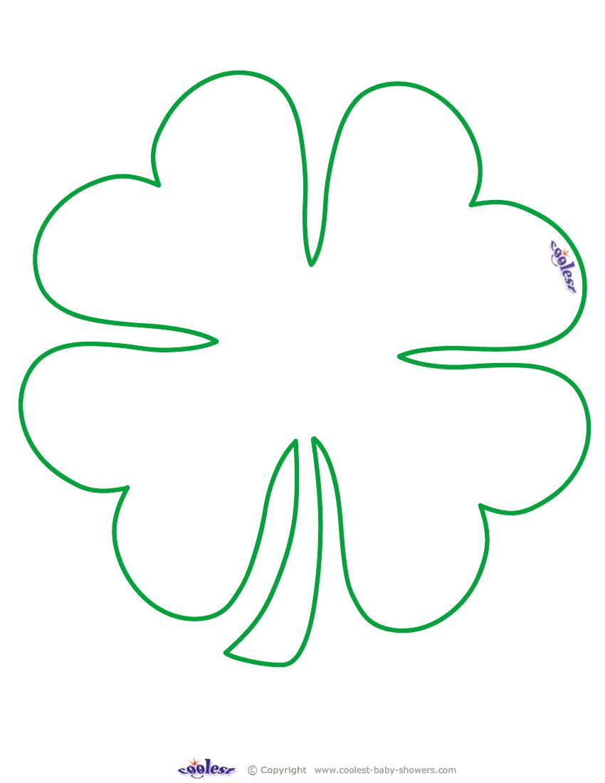 Large Printable Clover Coolest Free Printables … | Tattoo Canvas - Free Printable Shamrocks
