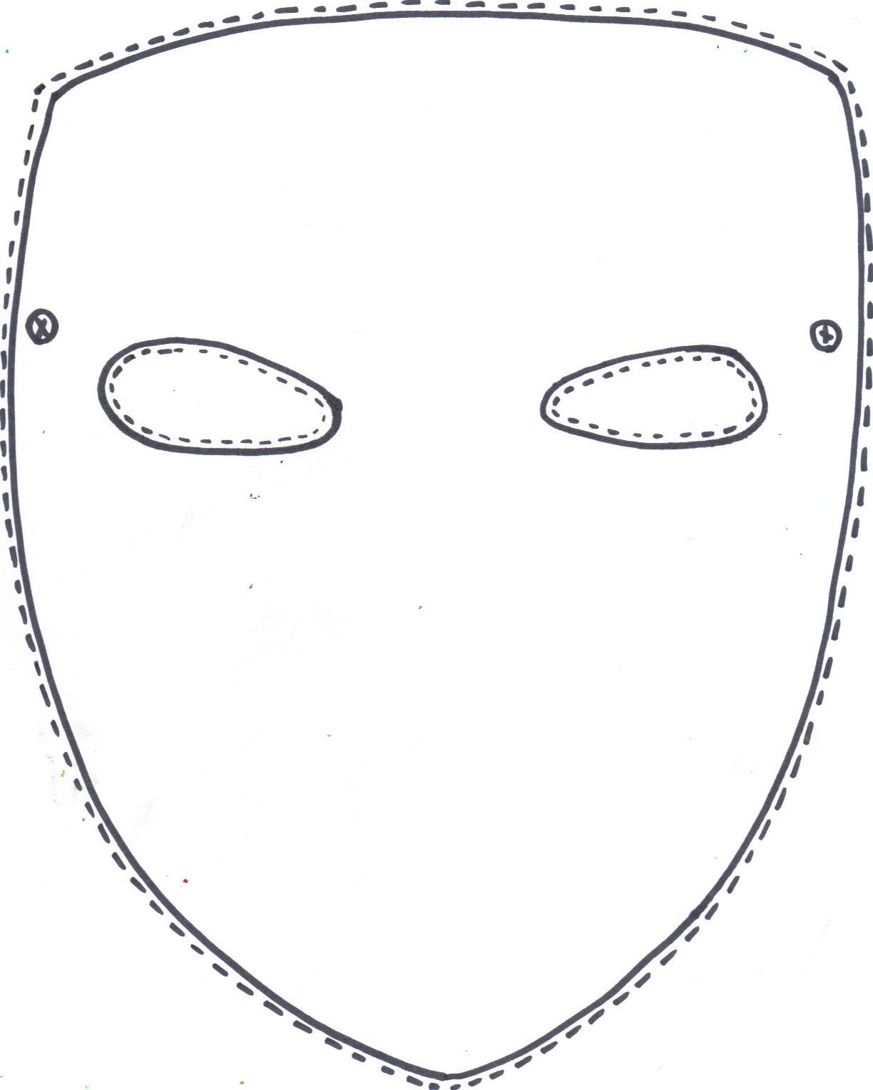 Last Minute Halloween Quickie: 100 Free Printable Masks A«  Face - Free Printable Face Masks
