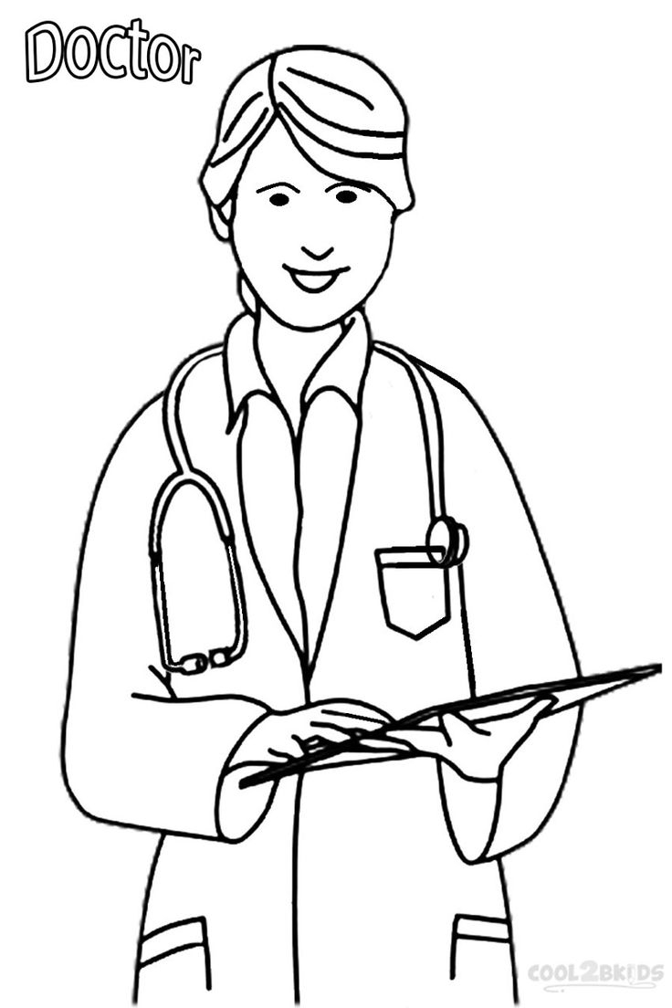 Launching Doctors Coloring Pages Woman Doctor Page Free Printable #26 - Doctor Coloring Pages Free Printable