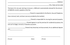 Free Printable Lease Agreement Texas