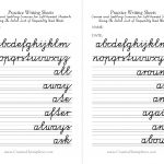 Left Handed Letter Formation Pdf Format Free Printable Cursive   Free Printable Left Handed Worksheets