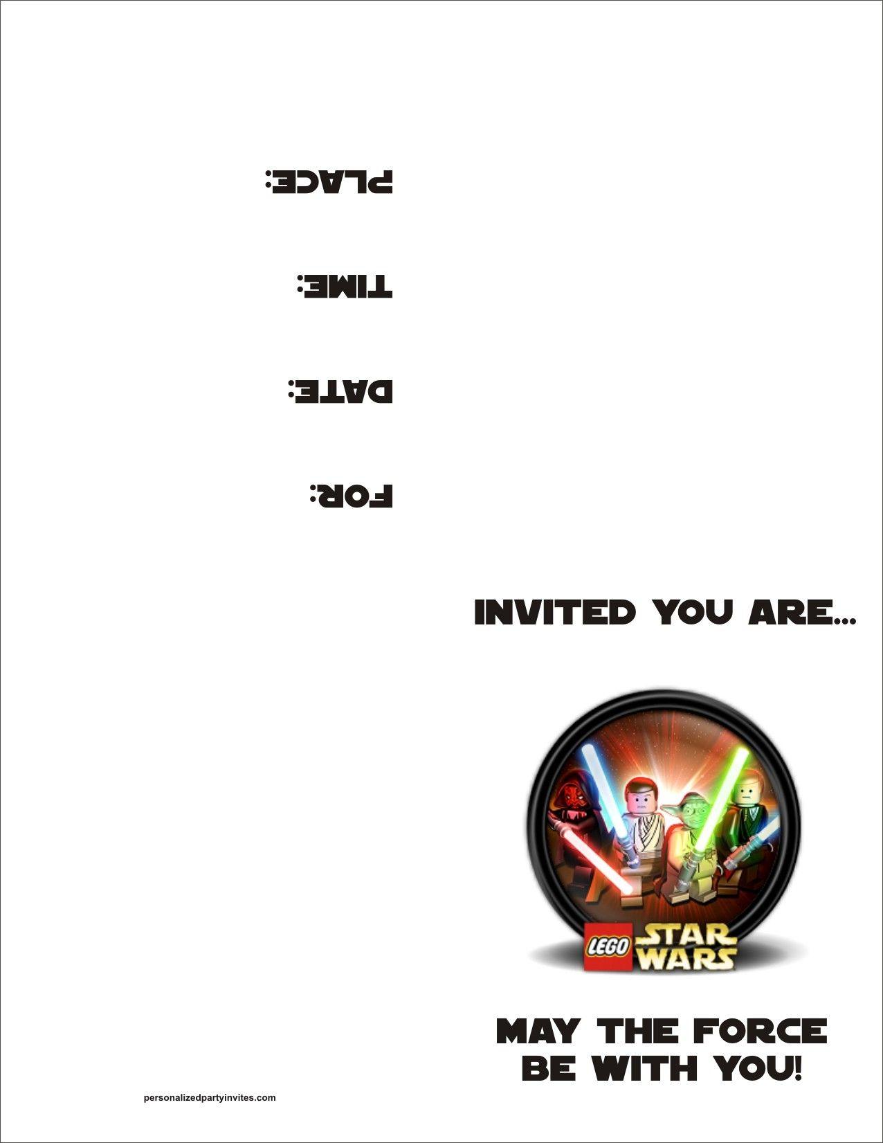 Lego Star Wars Free Printable Birthday Party Invitation. Doing This - Star Wars Invitations Free Printable