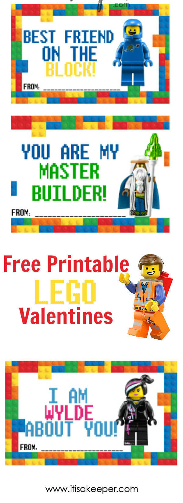 Lego Valentine Cards - Free Printable | It Is A Keeper - Free Printable Lego Star Wars Valentines