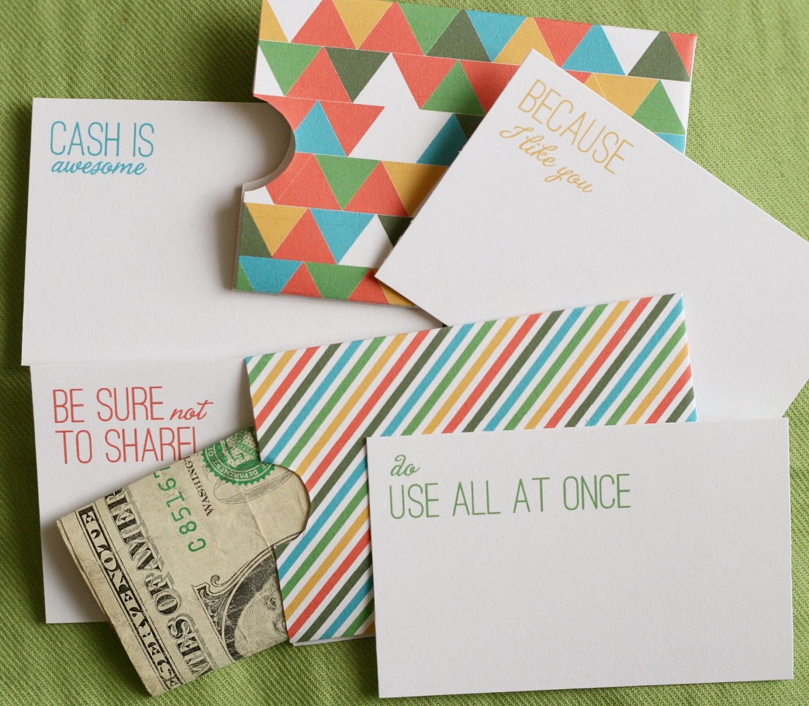 Lemon Squeezy: Day 12: Cash Holder Free Printables | Untie The - Free Printable Christmas Money Holders