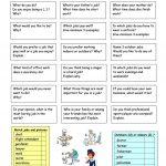 Let´s Talk About Work Worksheet   Free Esl Printable Worksheets Made   Free Printable English Conversation Worksheets