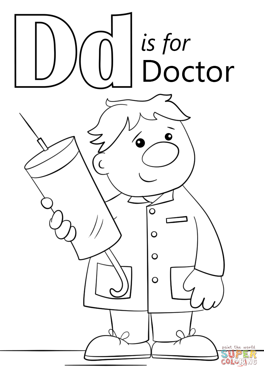 Letter D Is For Doctor Coloring Page | Free Printable Coloring Pages - Doctor Coloring Pages Free Printable