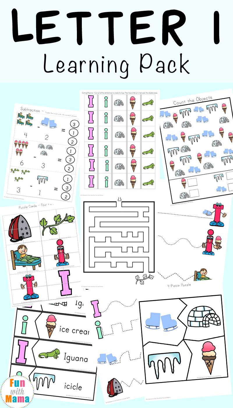 Letter I Worksheets + Activities For Preschool - Fun With Mama - Free Printable Activities For Preschoolers