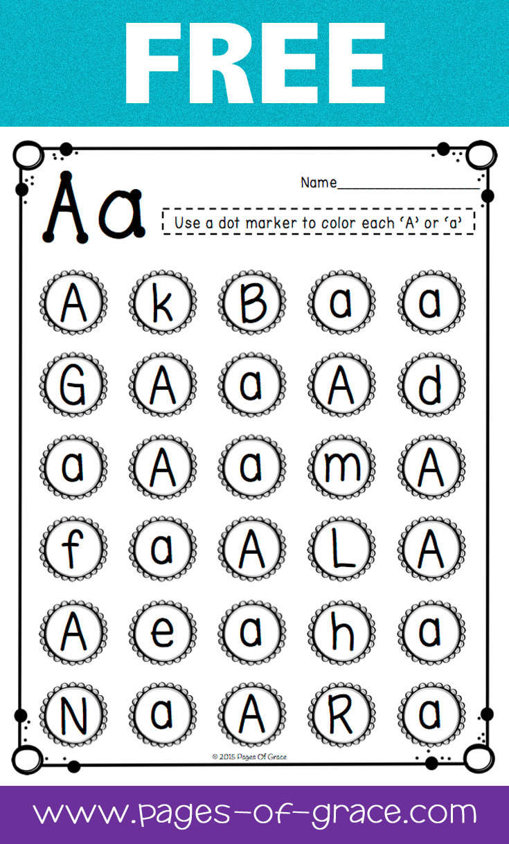 Letter Recognition | Pages Of Grace Resources | Pinterest - Free Printable Letter Recognition Worksheets