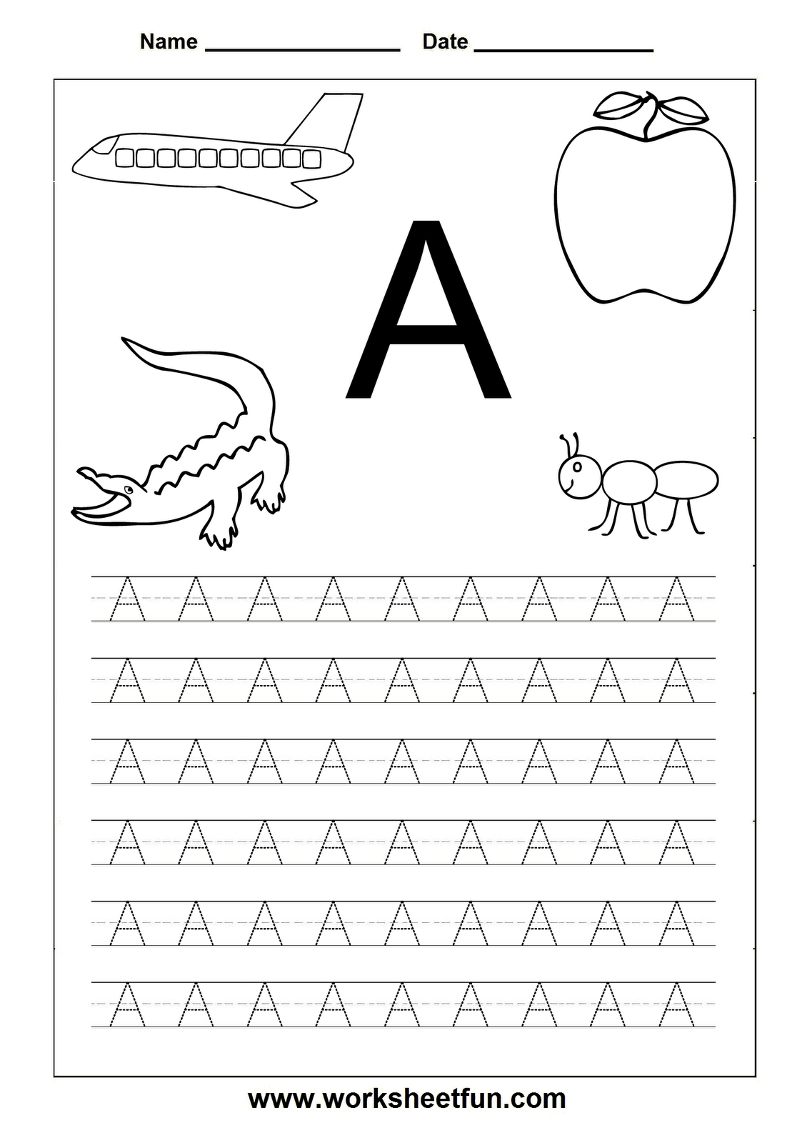 Letter Worksheets For Kindergarten Printable | Letters | Pinterest - Free Printable Letter Worksheets