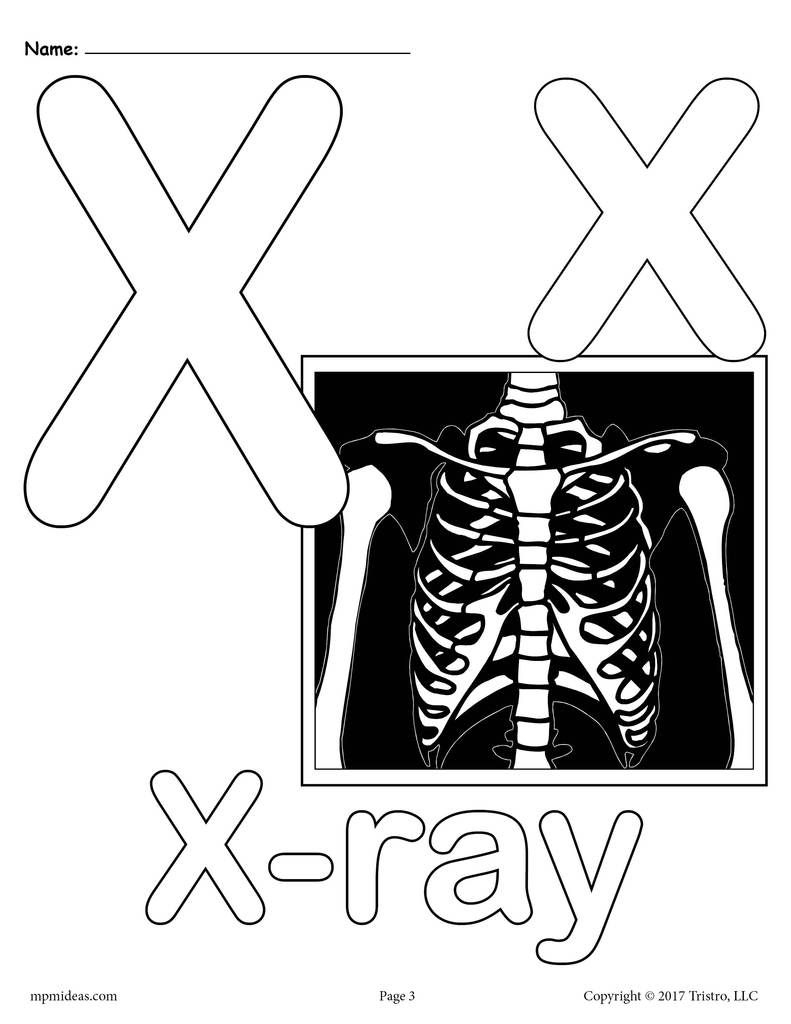 Letter X Alphabet Coloring Pages - 3 Free Printable Versions - Free Printable Animal X Rays