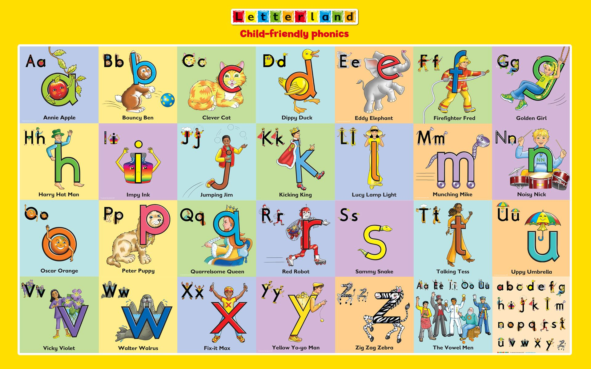 Letterland Characters | Letterland ~ Pre-K | Pinterest | Phonics - Letterland Worksheets Free Printable