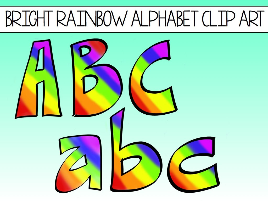Letters Clip Art Free - Disqvr - Free Printable Rainbow Letters