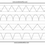 Line Tracing – 1 Worksheet / Free Printable Worksheets – Worksheetfun   Free Printable Preschool Worksheets Tracing Lines