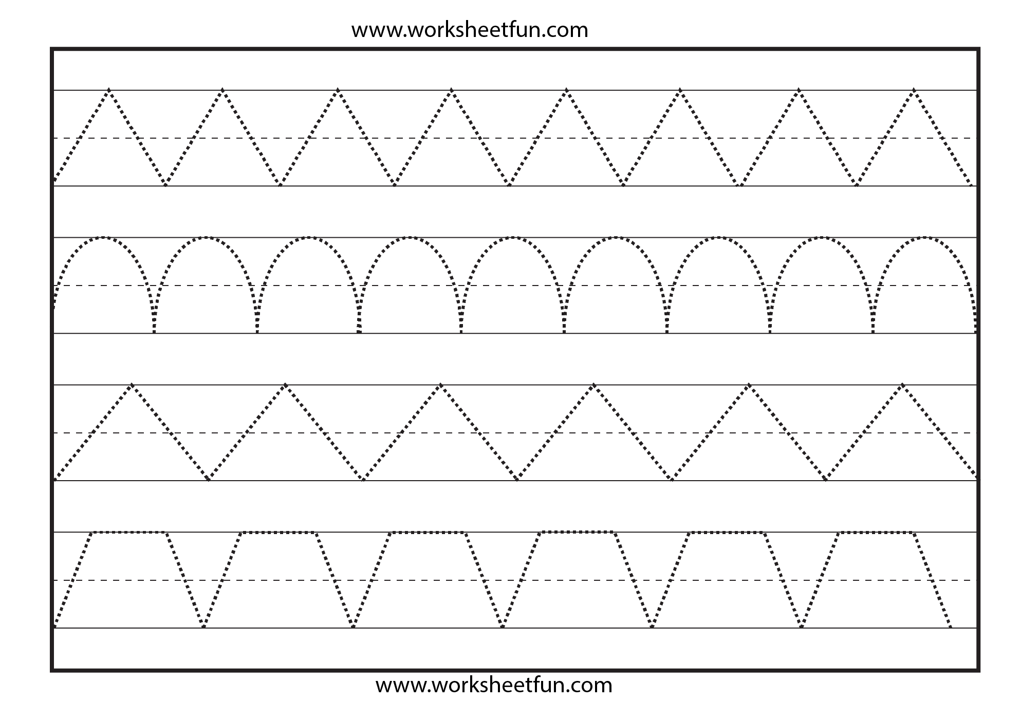 Line Tracing – 1 Worksheet / Free Printable Worksheets – Worksheetfun - Free Printable Preschool Worksheets Tracing Lines