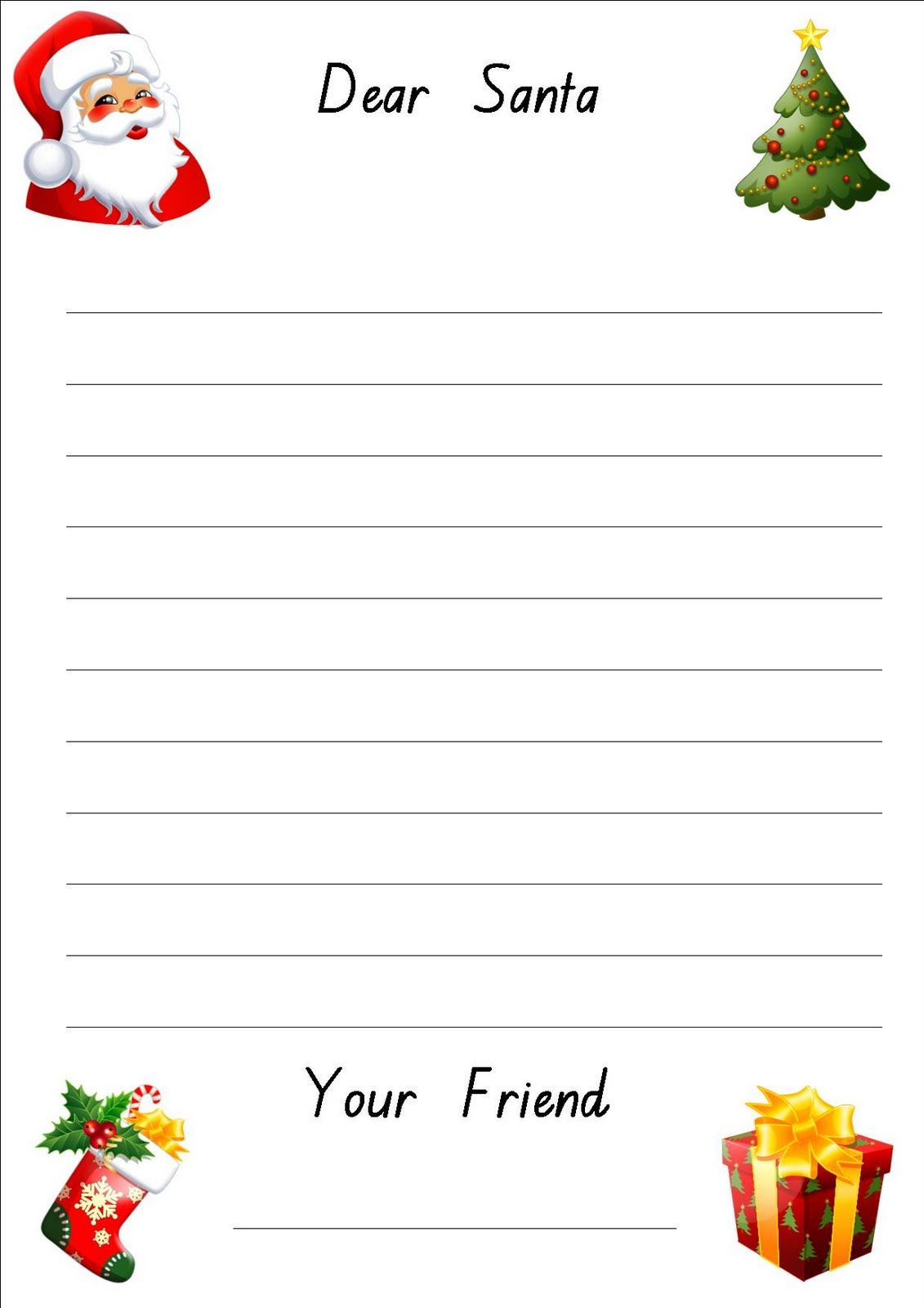 Lined Christmas Paper For Letters | Do Your Kids Write Letters To - Free Printable Santa Letter Paper