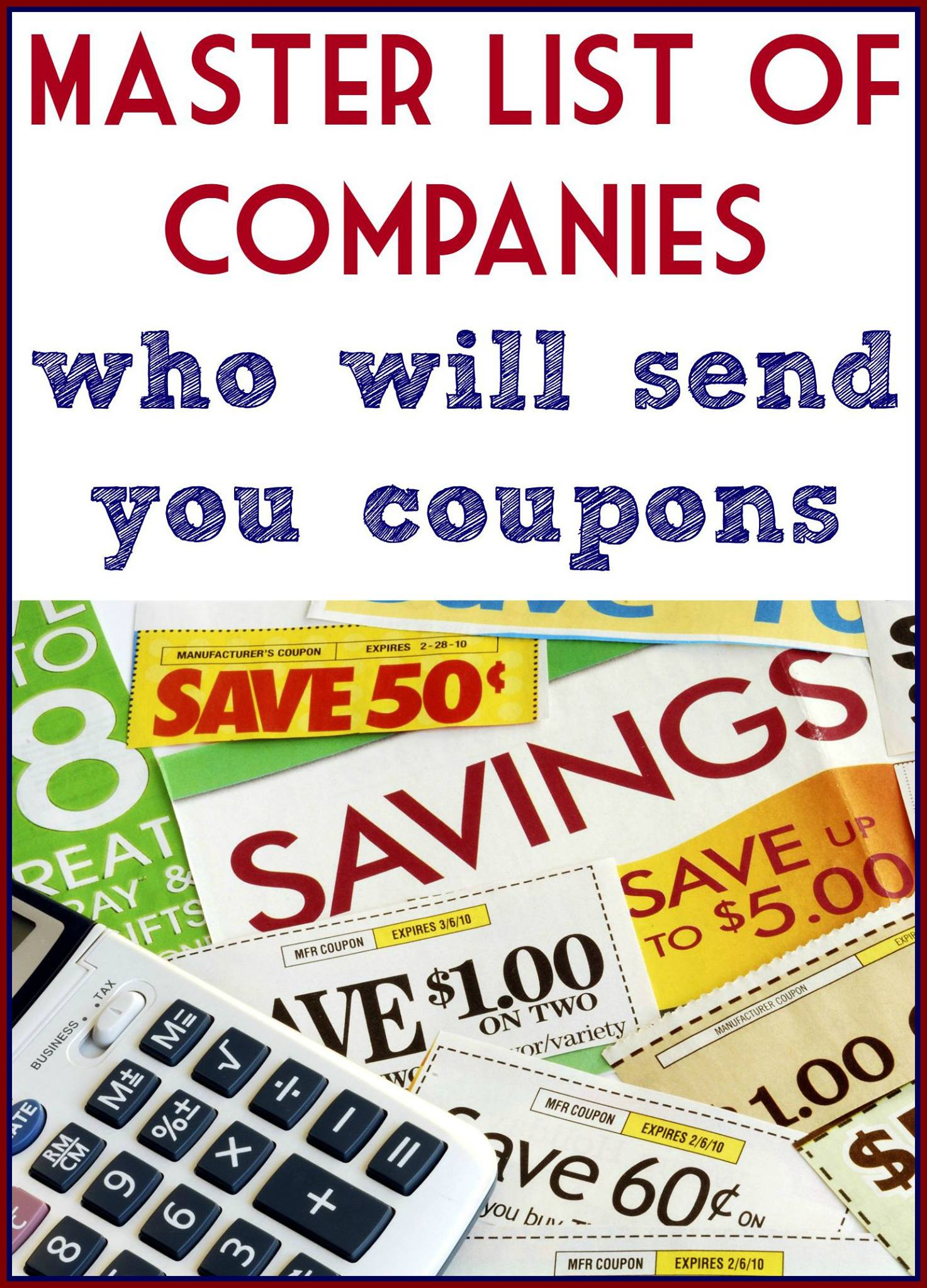 List Of Companies To Email For Coupons! - Free Printable Chinet Coupons