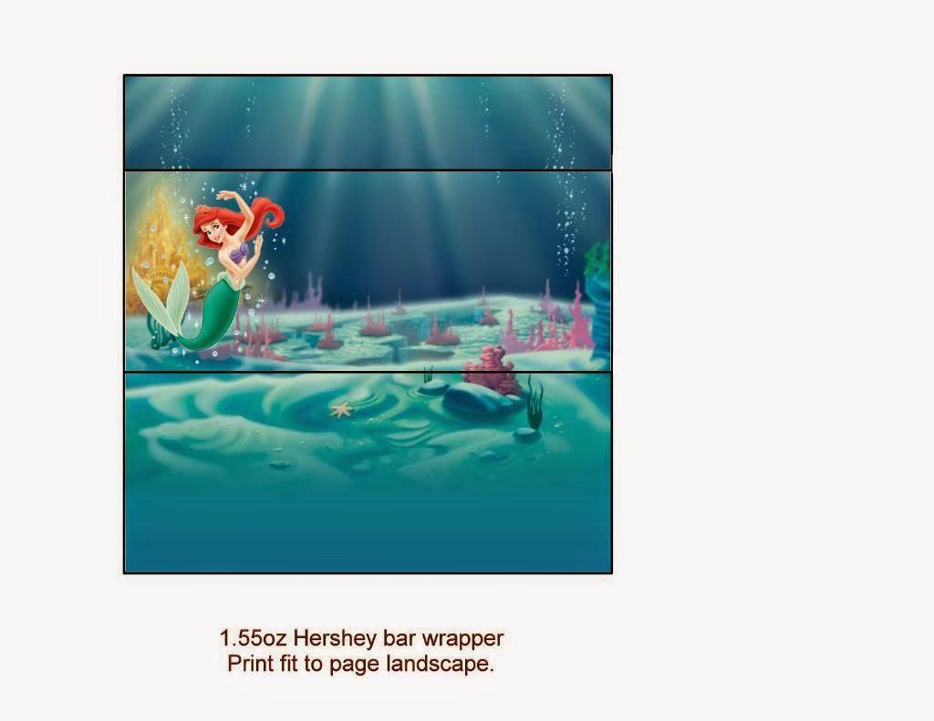 Little Mermaid Free Printables.   Oh My Fiesta! In English - Free Printable Little Mermaid Water Bottle Labels