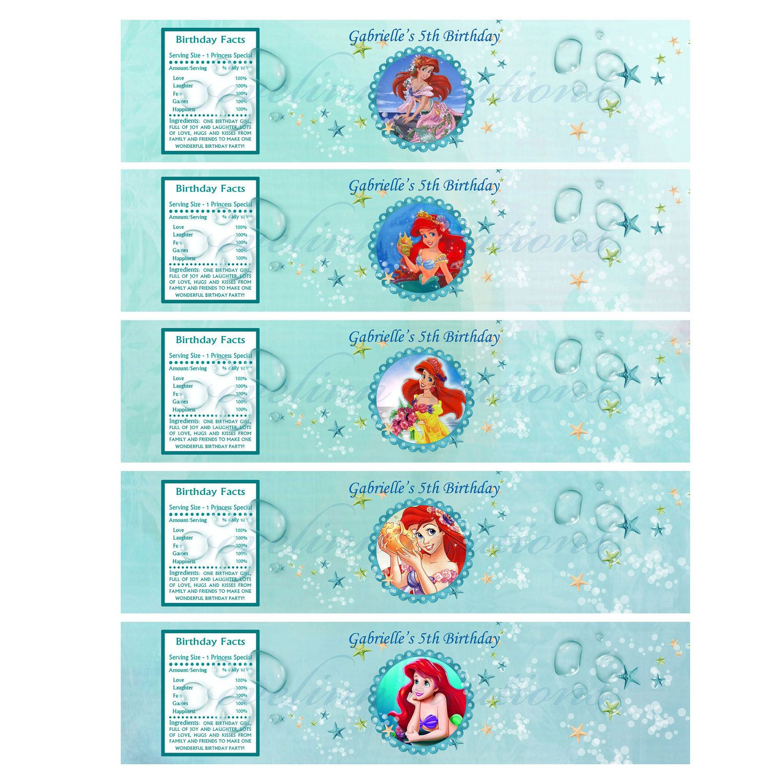 Little Mermaid Water Bottle Printables   P.tags   Pinterest - Free Printable Little Mermaid Water Bottle Labels