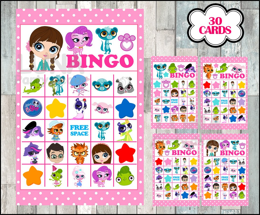 Littlest Pet Shop Bingo 30 Cards Instant Download Printable | Etsy - Littlest Pet Shop Invitations Printable Free