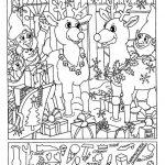 Liz's Hidden Pictures  Reindeer | Christmas   Free Printable Christmas Hidden Picture Games