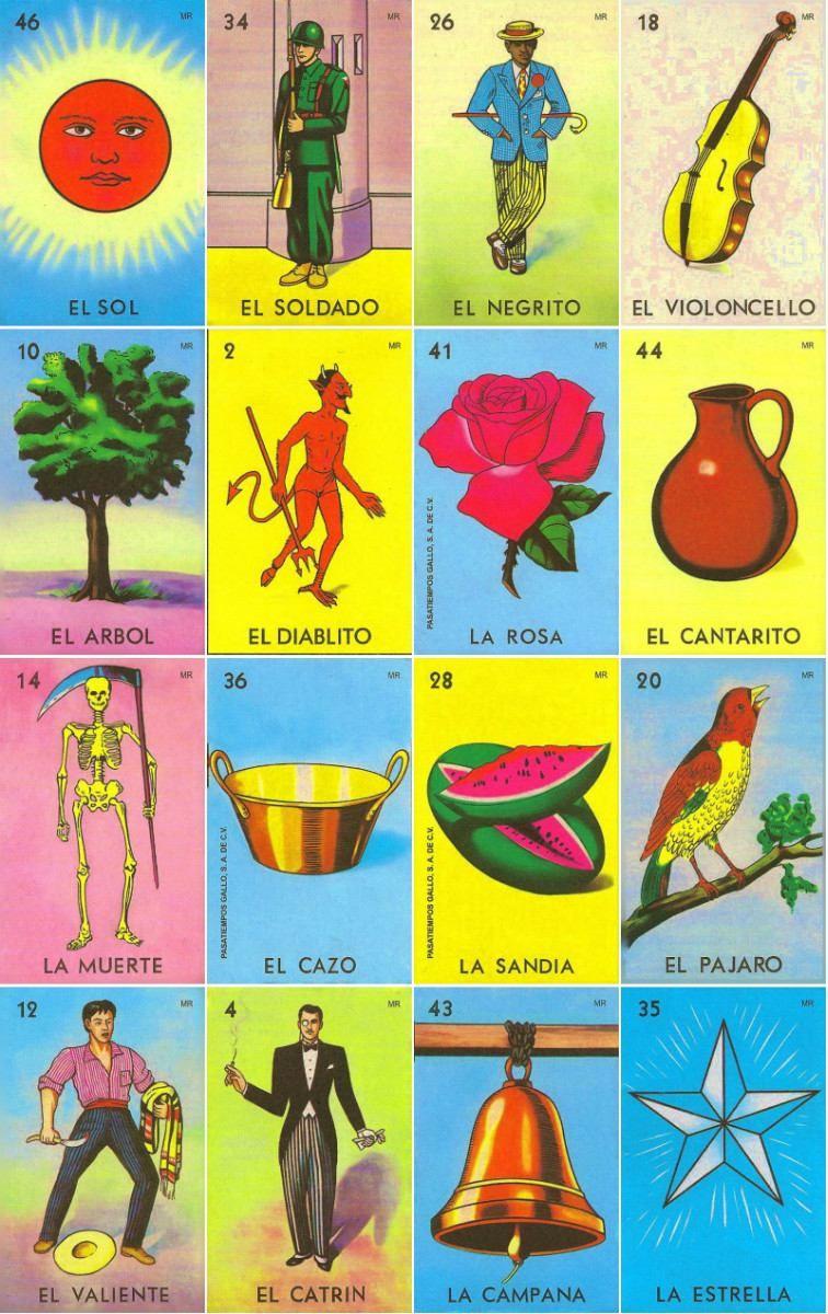 Loteria Mexicana Tradicional | Printable | Mexican Art, Mexico Art - Free Printable Loteria Game