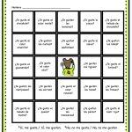 Loteria Printable Game Board Featuring Gustar | Spanish Kids – Free Printable Loteria Game