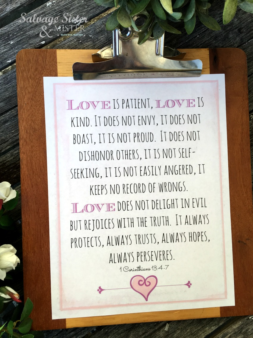 Love Is Free Printable - Salvage Sister And Mister - Love Is Patient Love Is Kind Free Printable