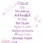 Love Is..valentine's Day Free Printable!   Nessa Makes   Love Is Patient Love Is Kind Free Printable