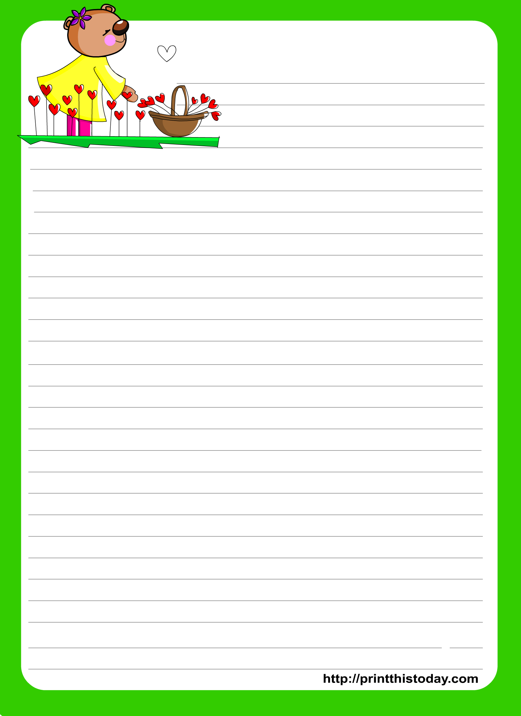 Love Letter Writing Paper - Free Printable Spring Stationery