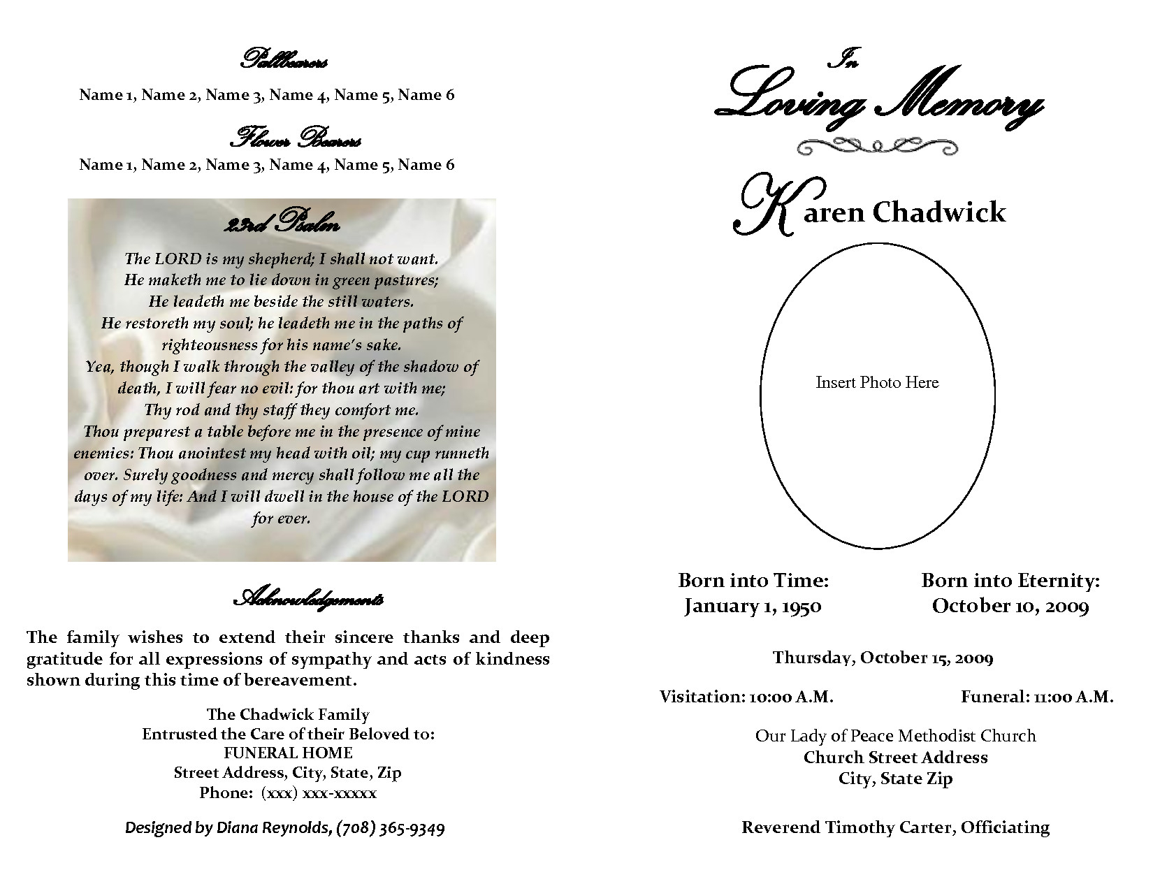 Lovely Fill In The Blank Obituary Template — Jkwd - Jkwd - Free Printable Obituary