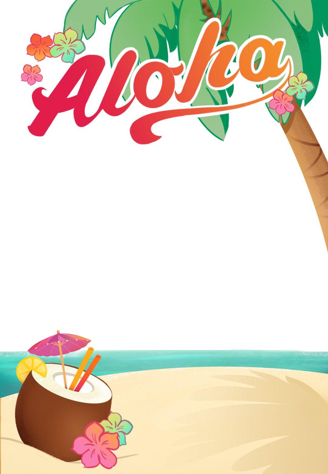 Luau Party - Free Printable Summer Party Invitation Template - Free Printable Luau Baby Shower Invitations
