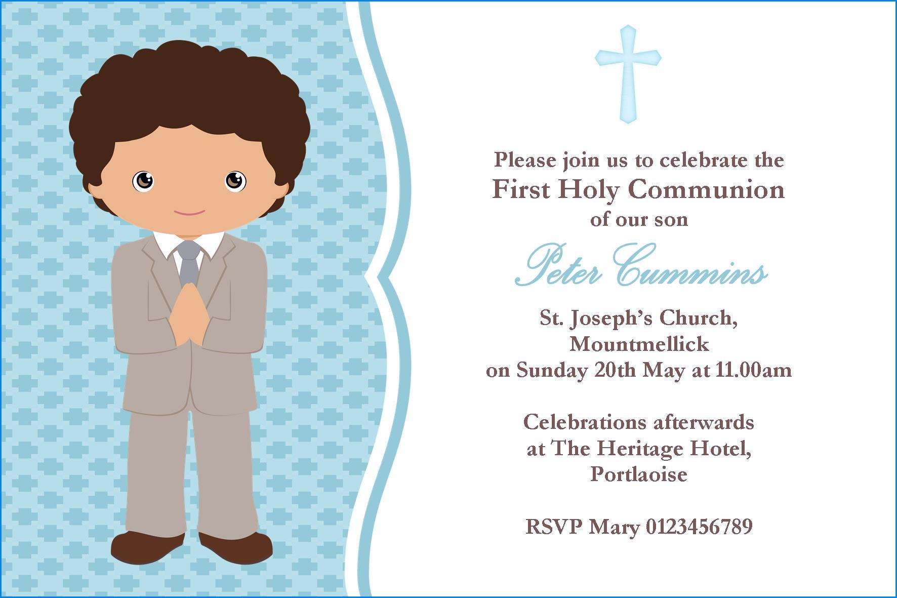 Luxury First Communion Invitation Cards – Sarokapro - Free Printable 1St Communion Invitations