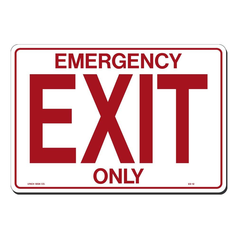 Lynch Sign 14 In. X 10 In. Emergency Exit Only Sign Printed On More - Free Printable No Exit Signs