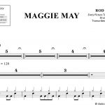 Maggie May – Rod Stewart – Drum Sheet Music – Onlinedrummer   Free Printable Drum Sheet Music