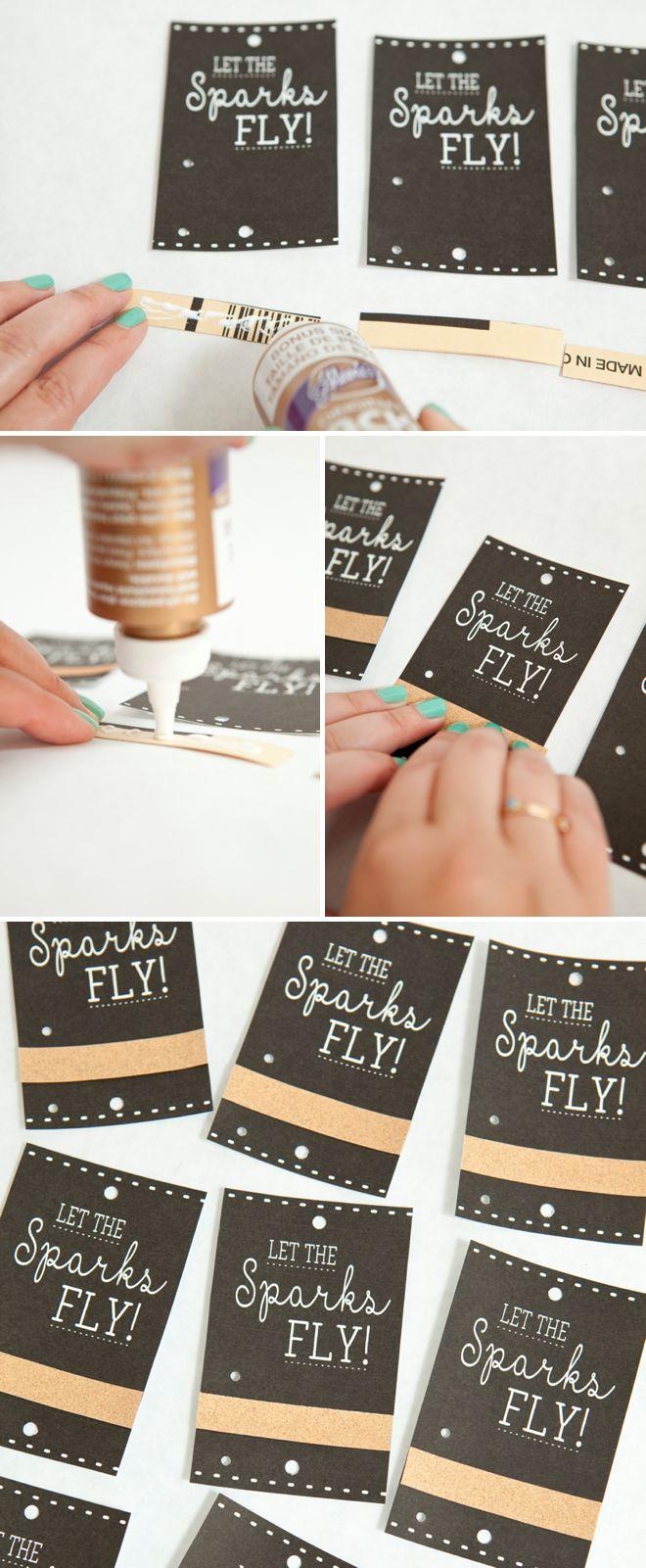 Make These Adorable Wedding Sparkler Tags + Sign For Free! | Kiera's - Free Printable Wedding Sparkler Sign
