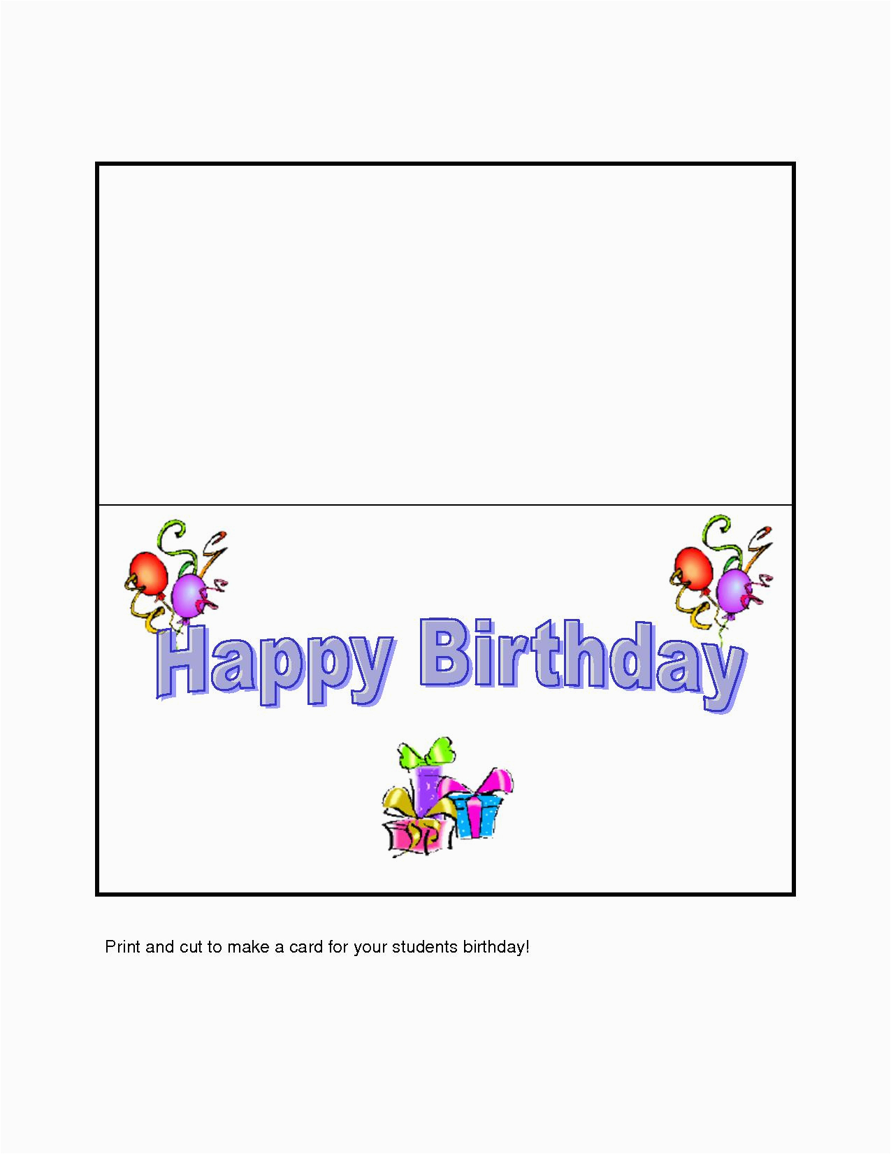 Make Your Own Birthday Cards Free And Print | Birthdaybuzz - Customized Birthday Cards Free Printable