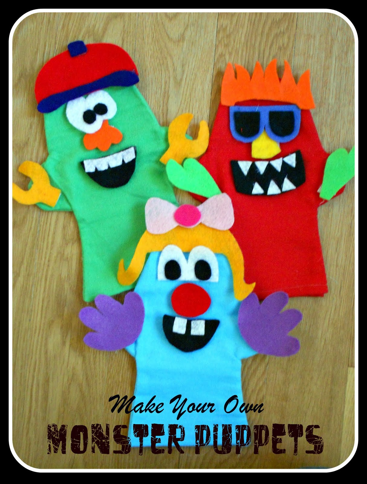Make Your Own Monster Puppets Printable Pattern   Six Sisters' Stuff - Free Printable Monster Templates