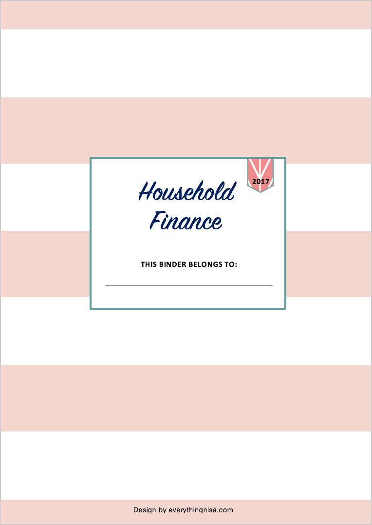 Managing Home Finances {With Free 2017 Finance Binder Printables!} - Free Printable Financial Binder