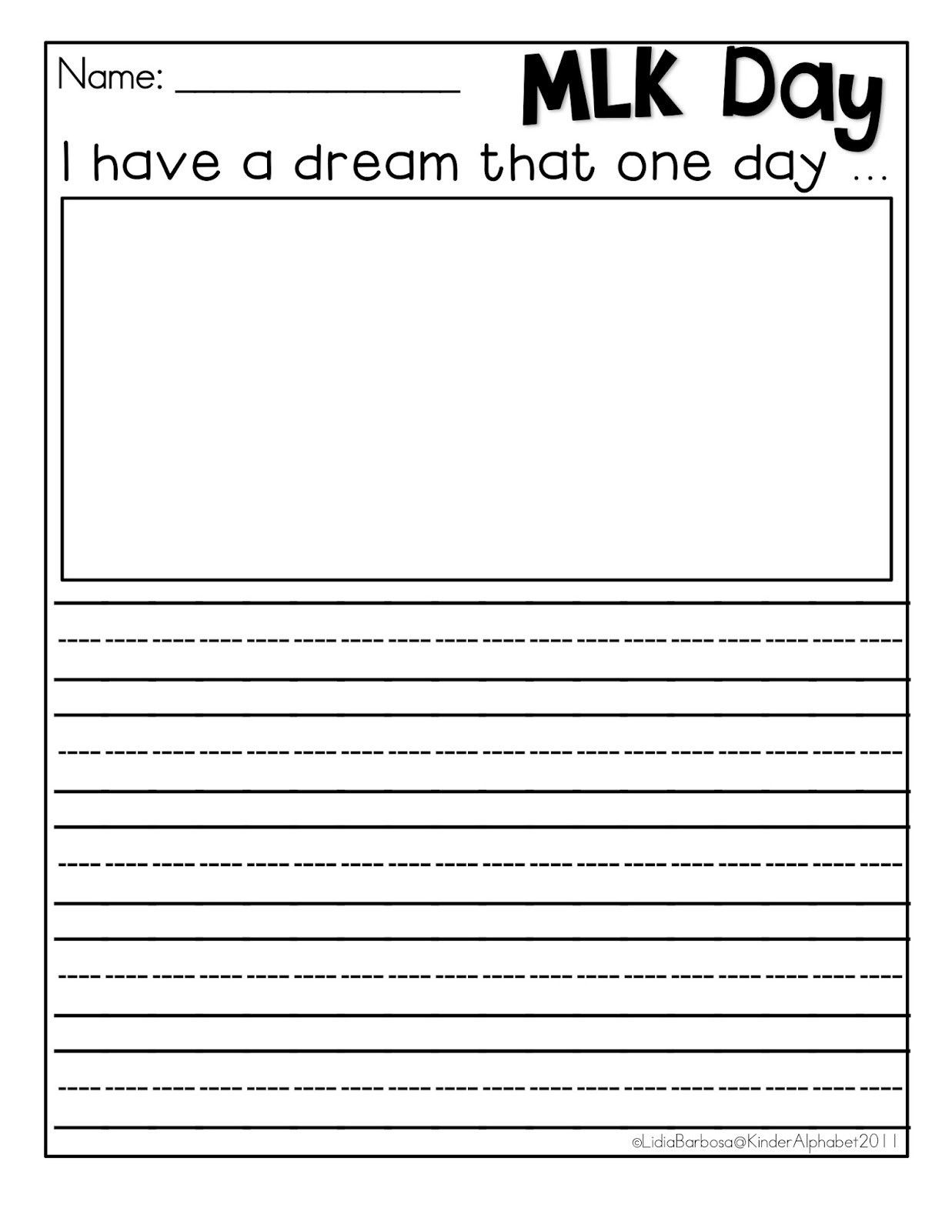 Martin Luther Worksheet Martin Luther King Jr Worksheets I Have A - Free Printable Martin Luther King Jr Worksheets For Kindergarten